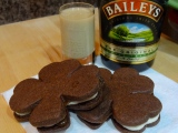 Taste the Luck o' the Irish: Chocolate Shamrock Sandwich Cookies