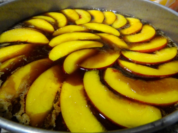 Whiskey Peach Upside-Down Cake - 10