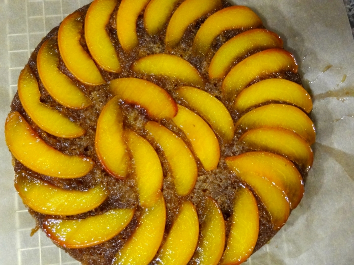 Whiskey Peach Upside-Down Cake - 25