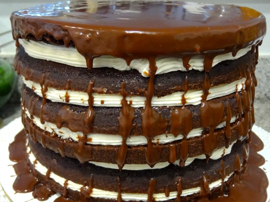 Mile-High Chocolate Cake with Vanilla Buttercream | Stellina Sweets ...