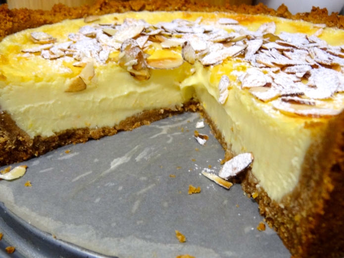 Orange Almond Ricotta Cheesecake - 23