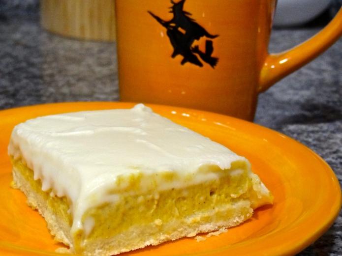 Pumpkin Cheesecake Bars - 39