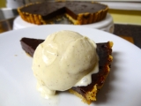 Baked Sunday Mornings…Belated: Simple Chocolate Whiskey Tart with Whiskey Whipped Cream (or à la mode)