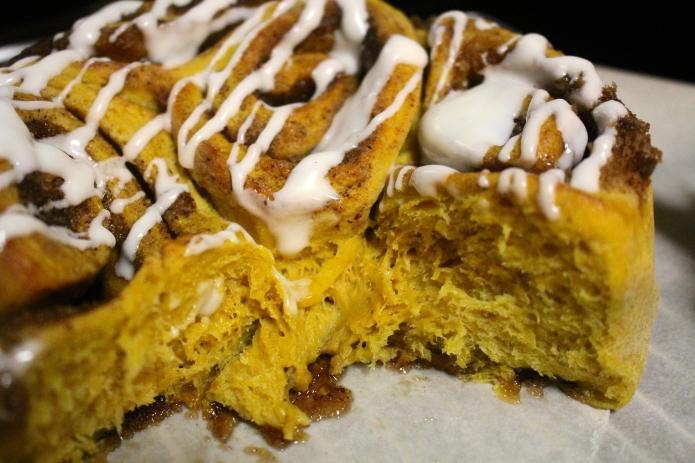 Pumpkin Cinnamon Rolls - 19