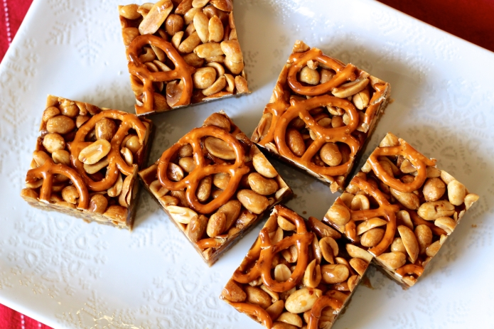 Caramel Dreams: Butterscotch Blondie Bars with Peanut-Pretzel Caramel ...
