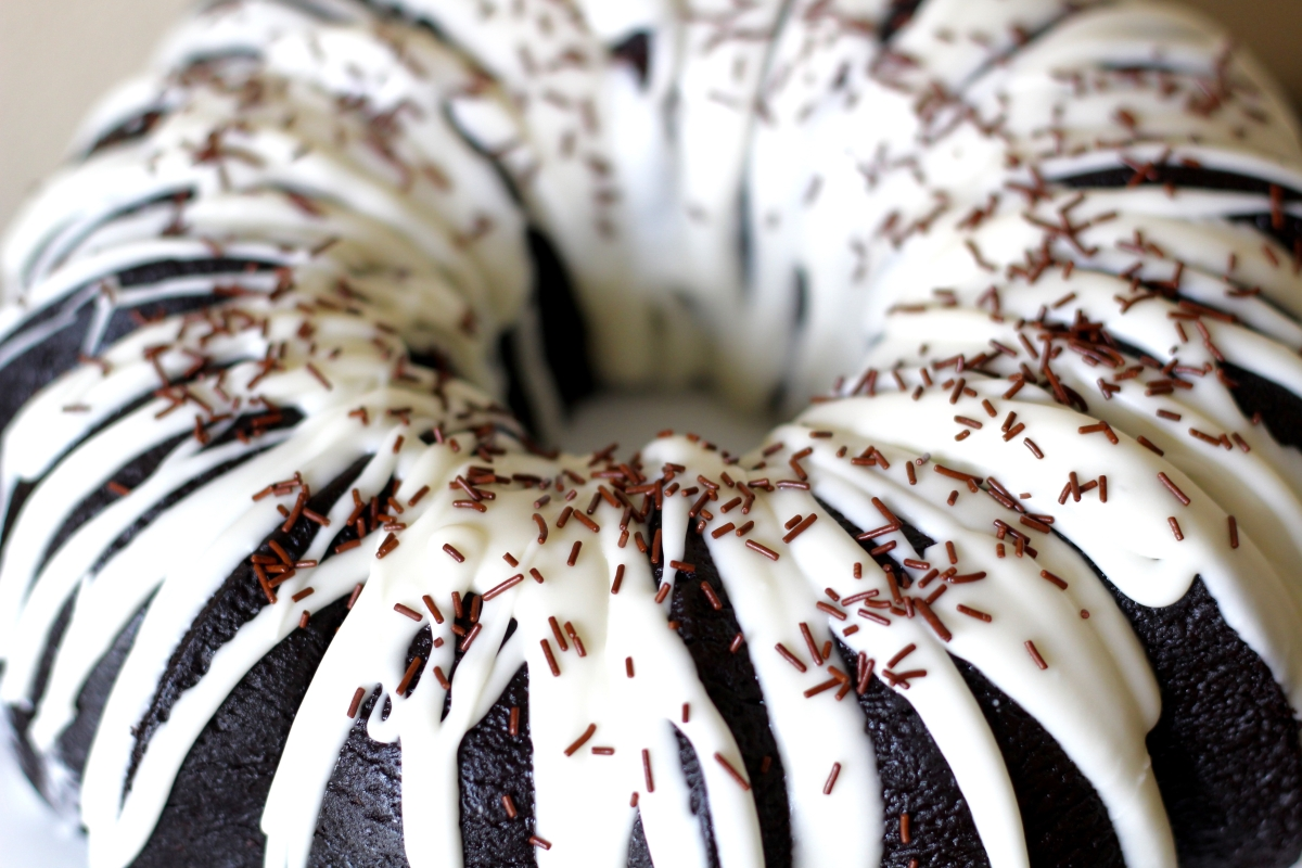Baked Sunday Mornings: Black Cocoa Bundt Cake with Butter Whiskey Glaze