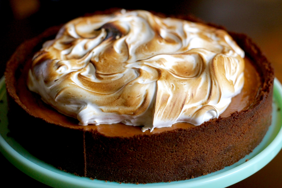 Baked Sunday Mornings: Sweet Potato Tart with Gingersnap Crust & Heavenly Meringue