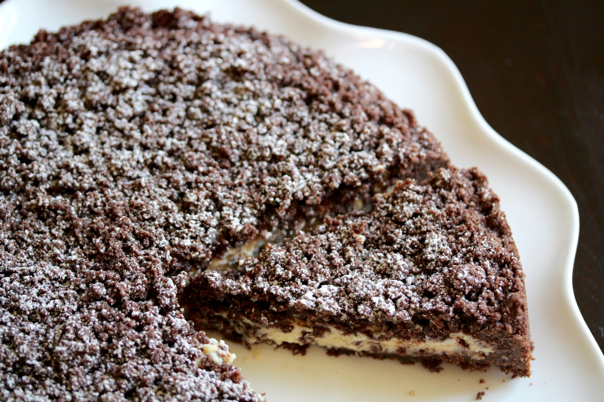 Torta Sbriciolata with Cocoa, Ricotta & Chocolate Chips