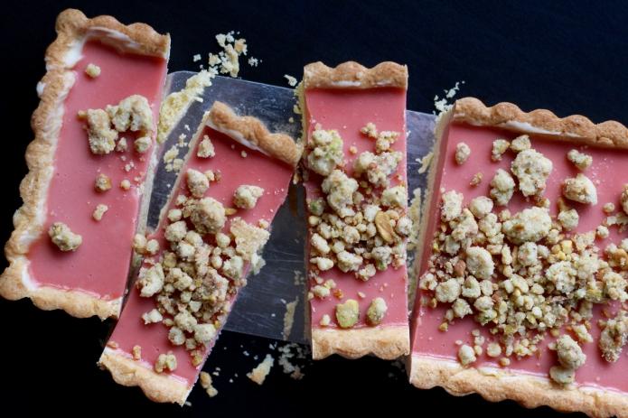 Rhubarb-Raspberry Pistachio Tart - 37