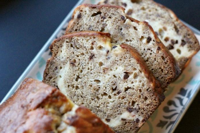 Choc Chip Cheesecake Banana Bread - 16